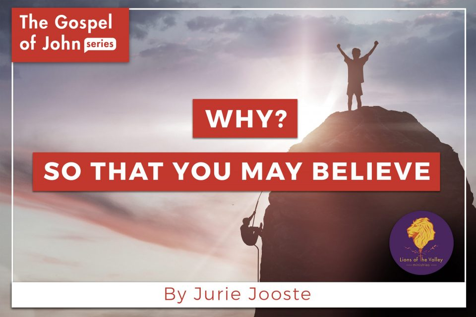 Why? So that we may Believe | The Gospel of John Series | Lions of the Valley DC